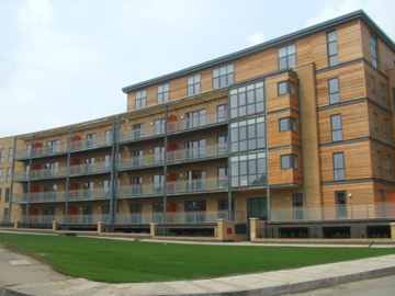 New build residential block of flats with balconies